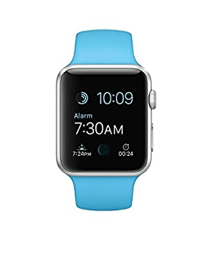 Apple Watch 38mm Aluminum Case Sport with Black Sport Band