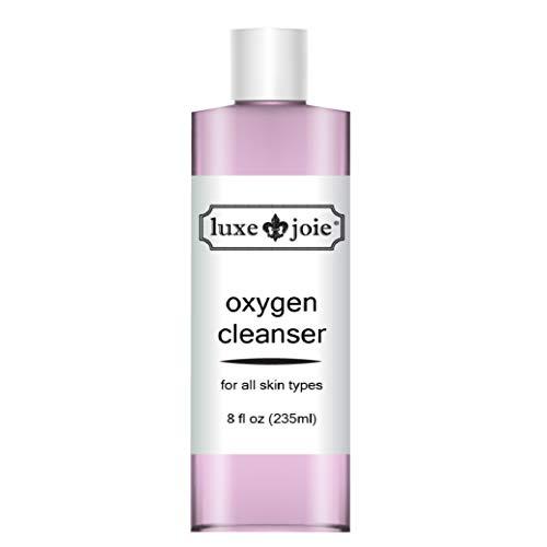 LuxeJoie Oxygen Revitalizing Cleanser 8 oz Face Wash Mature Skin Restorative Anti-Aging Skin Reduces Facial Redness Hydrates Regenerates