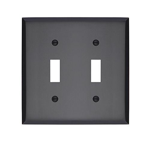 MAYKKE Graham Double Light Switch Cover, Oil-Rubbed Bronze, ALA1010204