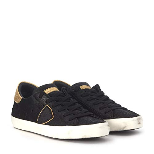Sneaker Suede Donna Classic Clld1006 Nere Pelle Nere Model Low oro Philippe Oro qT8StZ4x