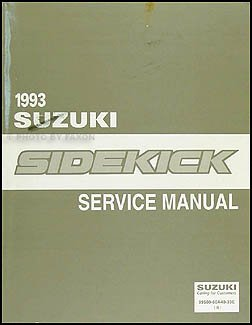 1993 suzuki sidekick repair shop manual original suzuki amazon com rh amazon com suzuki sidekick repair manual free download 1996 suzuki sidekick repair manual
