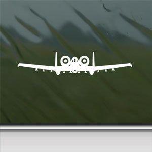 Sticker 10 (A 10 Thunderbolt Ii Warthog Front White Sticker Decal Car Window Wall Macbook Notebook Laptop Sticker Decal)