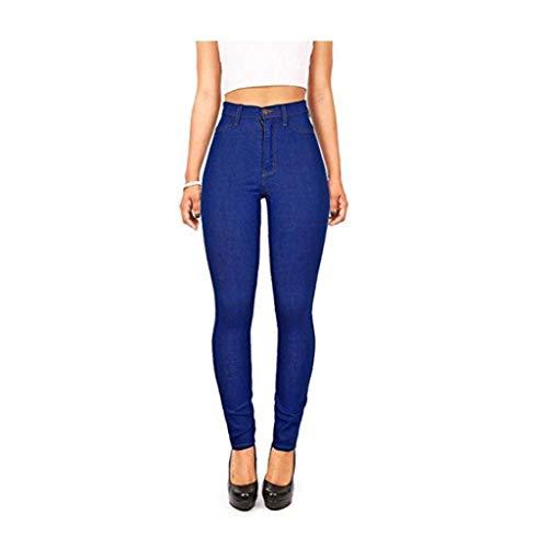 RXF Los Pantalones Delgados de Cintura Alta de los Pantalones Vaqueros de Las Mujeres Eran Delgados 1#
