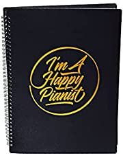 I'm A Happy Pianist Music Sheet Folder For Musicians, A4 Size, 20 Sleeves, 40 Pages (Black)