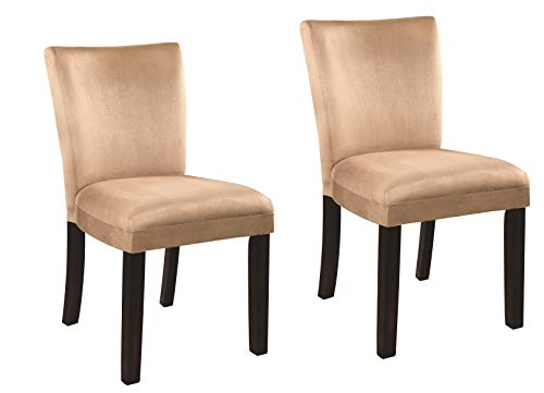 Bloomfield Microfiber Parson Side Chairs Cappuccino and Taupe (Set of 2)