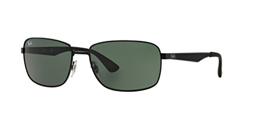 Ray-Ban RB3529 - 006/71 Metal Square Sunglasses in Matte Black - Sale Ban Ray Sunglasses Uk