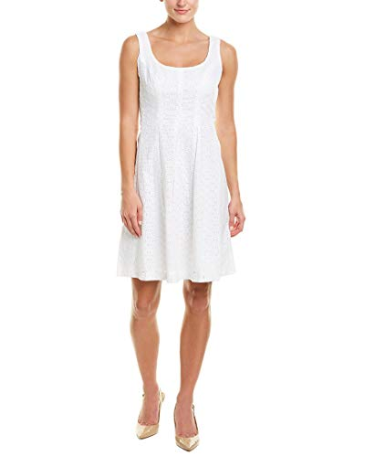 Pappagallo Women's The Carrot Dress, Natural White, 12 (Eyelet Natural)