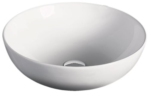 EAGO BA351 18-Inch Round Ceramic Above Mount Bathroom Basin by EAGO B004Q9GOTM