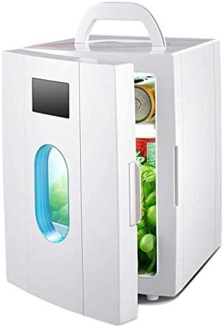 LFSPミニ冷蔵庫 ポータブル屋外冷蔵庫10リットル小さな家庭用冷蔵庫、ホットとコールドデュアルユース車デュアルユース急冷220V AC / 12V DC(色:白)