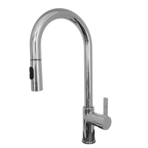 Franke FF20300 Rigo Single Handle Pull-Down Kitchen Faucet, Chrome - Franke Faucet Pull