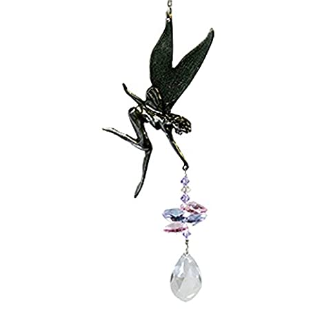 Pixie Deluxe Beaded Pewter - Rainbow Maker - Crystal Suncatcher - Home, Living Room, Bedroom, Kitchen, Car Decoration - Porch Decor - Sun Catcher - Hangings Crystal Glass (The Pixies Deluxe)