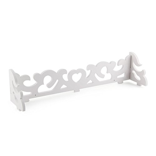 SODIAL(R) Set of 2 White Shabby Chic Filigree Style Shelves Cut Out Design Wall Shelf Home by SODIAL(R) (Image #3)