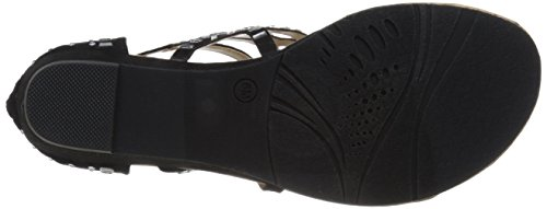 Wedge Moxy Women's Black Dolce Sandal Mojo by Candy zn1tEqHXx