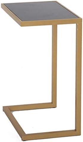 ベッドサイドテーブル、リムーバブルスクエアスモールデスクコーヒーテーブルアイアンアートゴールデンホームリビングルームベッドルームサイドテーブル32 * 45 * 64センチメートルベッドサイド収納