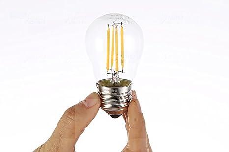 TIANLIANG04 bombillas LED Edison Bombilla Led De G45 Lámpara Led 220V Vintage Filamento Bombilla Led Lámpara