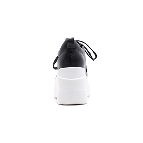 KJJDE Croisées Q0016 Femme Style Semelles Chaussures Plateformes Double Black WSXY Punk À Creepers Sangles Baskets rxYXrwz