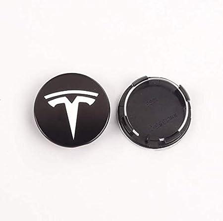 Rsioslez 4 Piezas Coche de Aleaci/ón Rueda Centro para Tesla Model 3 Model X Model S,Auto Rueda Centro Cap Casquillos,Tapacubos Tapones para Llantas 56mm