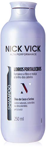 Nick & Vick, Shampoo Loiros Fortalece, 250ml, a imagem e a embalagem podem variar