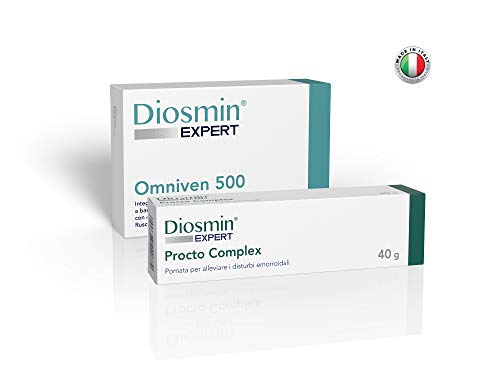 Hemorrhoid Complex - Diosmin Expert - Hemorrhoid Treatment - Omniven 500 + Procto Complex - Tablets and Cream Specific for Piles