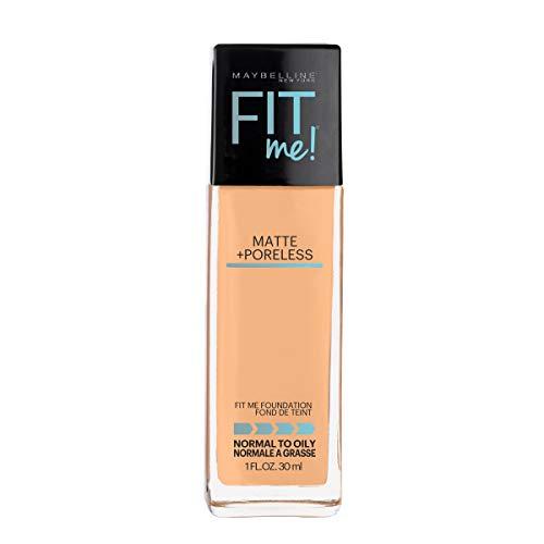 Maybelline Fit Me Matte + Poreless Liquid Foundation Makeup, Natural Buff, 1 fl. oz. Oil-Free Foundation (The Best Drugstore Foundation For Acne Prone Skin)