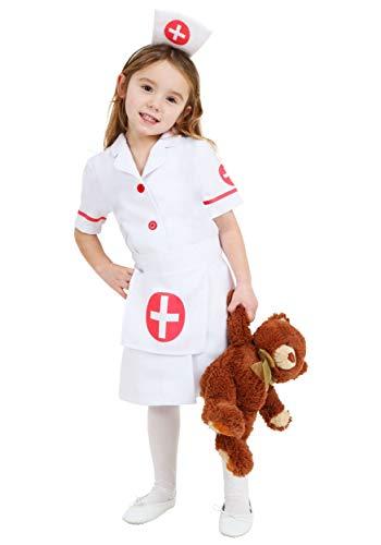 Toddler Nurse Costume 4T Red,White]()