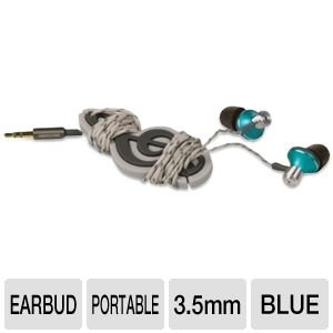 Memorex 32020021328 IE 400 Comfor Zone Earphones, Sky Blue, Best Gadgets