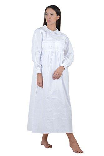 Cotton Lane coton blanc Peter Pan Vintage Chemise de nuit.Tailles Franais 36-62