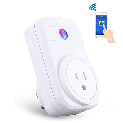 WIFI Smart Plug Mini Wireless Smart Socket Outlet Compatible with Amazon Alexa Echo Dot Google Home App Remote Control from Anywhere No Hub Required Timing Switch Home Device Energy Saving 1-Pack