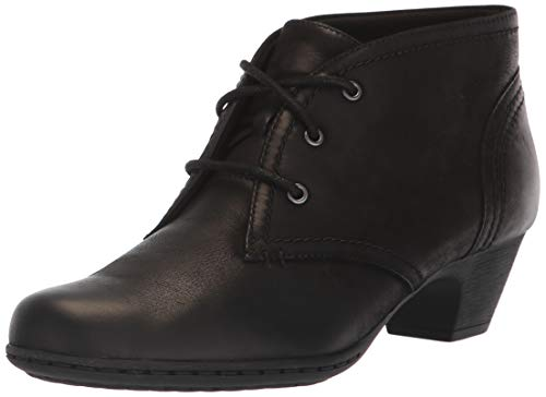 Rockport Women's Brynn Chukka Bootie Ankle Boot, Black, 8.5 M US (Rockport Boot Women)