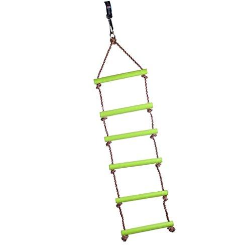 inkl. gro/ßer Steckverbinder Cozyswan Kinder Outdoor Kletterleiter aus Kunststoff mit 6 Prossen L/änge 2M belastbar bis 120 kg Strickleiter