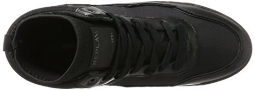 Replay Herren Hutre Hohe Sneaker Schwarz (Black)
