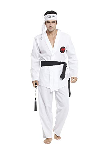 CBM Halloween Costumes for Men Karate Black Belts Adult Halloween Costumes Free Size M/L 5'7