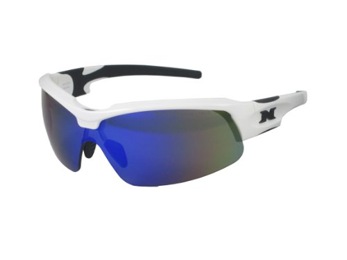 NYX Sport Vision PRO Z-17 Series Sunglass with Z87.1 Safety Rating, White-Black Frame/Arctic Blue Polarized Safety Lens, - Rating Sunglasses