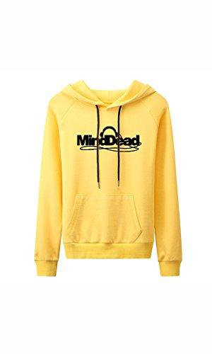 Dead Womens Raglan Hoodie - Women's Long Sleeve Raglan Crewneck Tunic Sweatshirt Pullover Hoodie