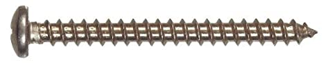 6-Inch x3//4-Inch 5-Pack The Hillman Group 8059 Stainless Steel Pan Head Phillips Sheet Metal Screw