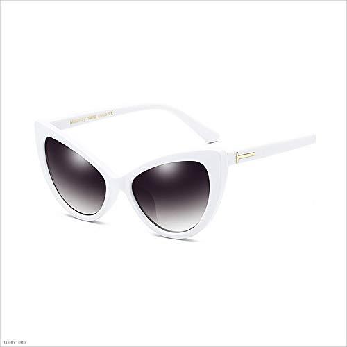 retro la de PC sol de protección de sol de Gafas de estilo clásico con Gafas de Gafas Gafas de sol Gafas de sol de borde Blanco conducción protección personalidad UV de 100 marco de sol de UV Polarizado SZqw6X