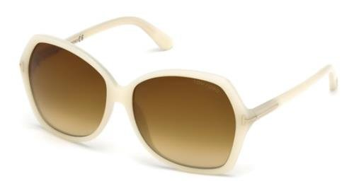 Tom Ford Sunglasses - TF9328 Carola / Frame: Opalescent White Lens: Brown - Ford Sunglasses White Tom
