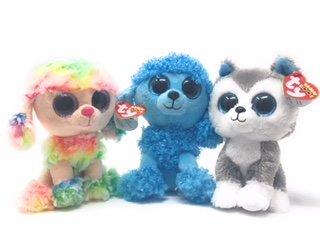 Ty Beanie Boos Set Of 3  Slush The Dog  Rainbow The Dog  And Mandy The Dog