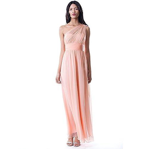 Long Peach Dress: Amazon.com
