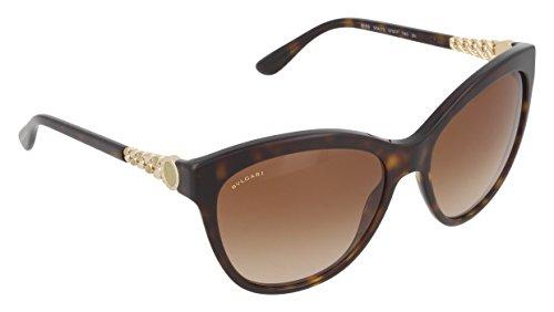 Bvlgari BV8158 504/13 Dark Havana BV8158 Cats Eyes Sunglasses Lens Category 2 - Sunglasses S Bvlgari