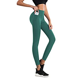 ACTIVE.WEAR Women Legging with Pockets,Girl Running Tight Pant,High Waist,Tummy Control,4 Way Stretch,Non See-Through WA58