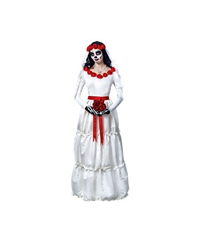 Day Of Dead Bride Costumes (Day of the Dead Bride Costume - Small - Dress Size 4-6)