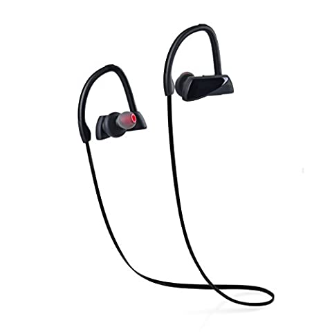 Wireless Sports Bluetooth Headphones Best Shake Proof Earphones with Mic IPX5 Waterproof HD Sound with Bass In Ear Earbuds for Gym Running Driving Leisure 8 Hour Battery Noise Cancelling (Food Return Policy)