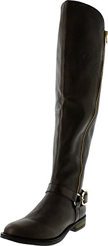 Steve Madden Women's Skippur Motorcycle Boot,Brown,6.5 M US