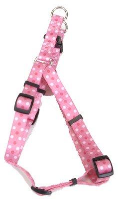 Coastal Pet 66345 A PDT18 .38 in. Adjustable Fashion Dog Harness - Pink Dot
