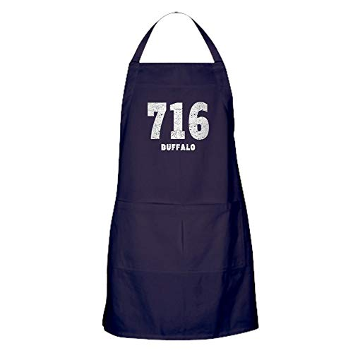 CafePress 716 Buffalo Distressed Kitchen Apron with Pockets, Grilling Apron, Baking Apron