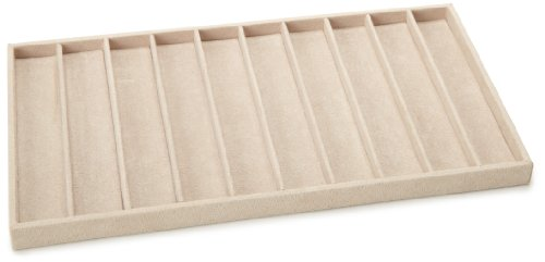 WOLF 435770 Necklace and Bracelet Tray Insert, Beige
