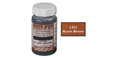 Eco-Flo All-In-One Stain and Finish 4.4 Ounce, Acorn Brown -