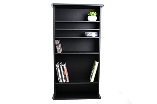 Multimedia Storage Rack Tower DVD CD Media Storage Racks Organizer Free Standing & E book By Easy2Find. by STS SUPPLIES LTD