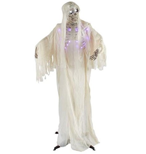 5.2' Animated Moaning Light Up Eyes and Rib Cage Lucifer Ghost - Skeleton Fright Light